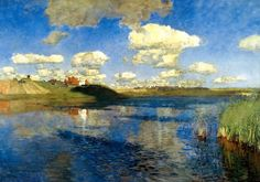 Левитан Исаак Ильич (1860-1900) Isaak Levitan Озеро. Русь. 1899-1900.
