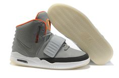 Nike Air Yeezy grey white orange Shoes