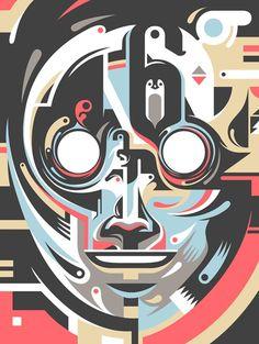 Mask – Graphic Artwork by Pavel Sabelnikov