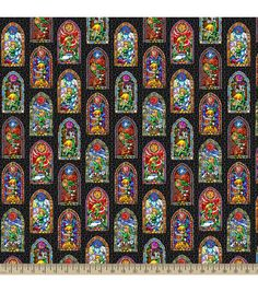 Nintendo® The Legend of Zelda™ Stained Glass Cotton Fabric | Jo-Ann $10.00 ($8.24) /yd