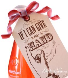 If I can give you a hand free gift tag