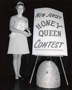 """ New Jersey's new Honey Queen is blond, 16 year old Peggi Keutgen of Packanack Lake, who will reign over the Garden State's bee and honey industry during Date: 1969 Location: Packanack. Girl Costumes, Vintage Costumes, Miss Pageant, Upper Crust, Queen Of Everything, Save The Queen, Bees Knees, 16 Year Old, Beauty Pageant"