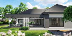 Modern Bungalow Exterior, Modern House Facades, Modern Bungalow House, Dream House Exterior, Flat House Design, Village House Design, Modern House Design, Contemporary House Plans, Modern House Plans