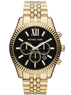 Keep the time in style with this Michael Kors men's stainless-steel watch…