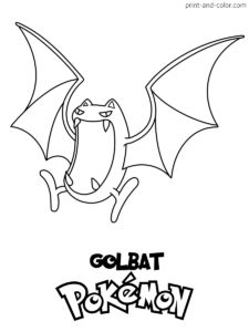 There are many high quality Pokemon coloring pages for your kids - printable free in one click.