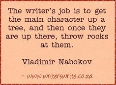 Throw rocks at your characters