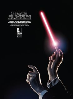 The choice of the typeface used in this ad was well thought out. They used the Star Wars font so that people would think of Star Wars when they saw the ad, and then expect to hear some songs from Star Wars at the event. They did a great job of making all of the content in the ad relevant to the event.