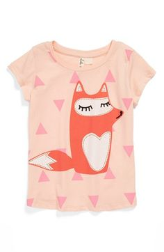 Lala Rebel 'Fox' Tee (Toddler Girls) available at #Nordstrom