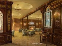 1st Class Smoking Saloon of Titanic by novtilus