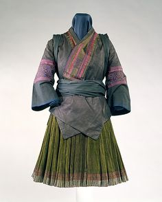 Ensemble, 20th c., Chinese minority (Miao peoples), cotton and silk