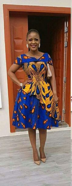 DKK Join us at: for Latest African fashion Ankara kitenge African women dresses Bazin African prints African men's fashion Nigerian style Ghanaian fashion African Dresses For Women, African Print Dresses, African Attire, African Fashion Dresses, African Wear, African Prints, Ankara Fashion, African Fabric, Ankara Styles For Women