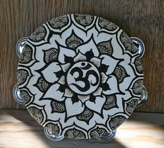 Henna Mandala Om Tambourine by RedwoodHenna on Etsy