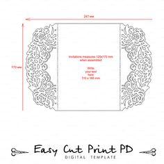 Boda papelería invitación patrón de la tarjeta plantillas