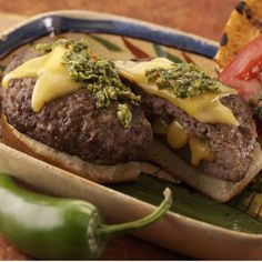 Check out this recipe for Chimichurri Burgers with Wisconsin Gouda Cheese.