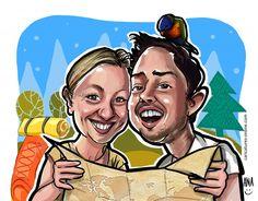 Wuckees! On Tour. Mit Papagei ;) Geschichten und Abenteuer zu finden auf www.wuckee.me Projects To Try, Caricatures, Couples, Artist, German, Graphics, Adventure, Deutsch, German Language