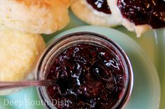 Preserves, made from fresh, ripe blackberries, sugar and lemon. Blackberry Preserves Recipes, Deep South Dish, Jam And Jelly, Dehydrated Food, Canning Recipes, Fruits And Veggies, Food Dishes, Food And Drink, Yummy Food
