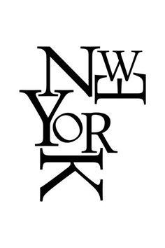 Vente Ambiance l'esprit déco / 17010 / Musique et lettrages / Sticker New York Noir