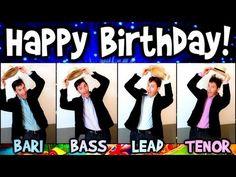 ▶ Happy Birthday song - A Cappella One Man Barbershop Quartet - Dapper Dans - YouTube