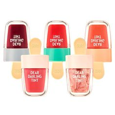 ETUDE HOUSE Dear Darling Water Gel Ice Cream  Lip Tint 4.5g 6Colors Long Lasting #ETUDEHOUSEKoreaCosmeticKBeauty