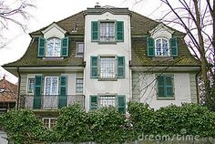 Photo about Nice House in Thun. Image of house, view, colors - 1793354 Swiss House, Switzerland, Home Goods, Houses, Stock Photos, Mansions, Architecture, Nice, House Styles