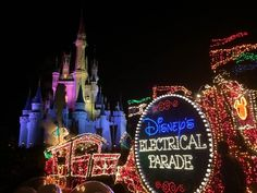 "Our favorite event at Disney is the Main Street Electrical Parade.  The music, the lights and the characters combine to provide that ""magic"" that keeps us going back year after year.  Hopefully these tips can help you to get a great spot and enjoy this amazing event!  http://mousehints.com/disneys-magic-kingdom-park/disneys-main-street-electrical-parade"