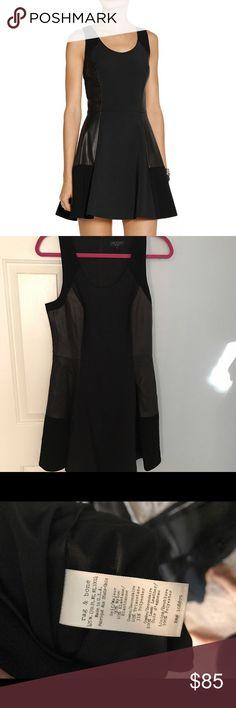 Rag & Bone black leather paneled dress Beautiful black dress with real leather panels. Never been worn. New without tags. rag & bone Dresses Mini