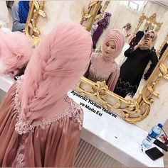 hijab wedding Yestt is another lovely bride # teset Wedding Abaya, Hijabi Wedding, Wedding Hijab Styles, Muslim Wedding Dresses, Muslim Dress, Dress Wedding, Hijab Bride, Girl Hijab, Man Fashion