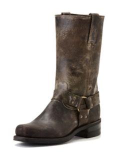 Frye Boots Harness Chocolate Vintage Glaze Men