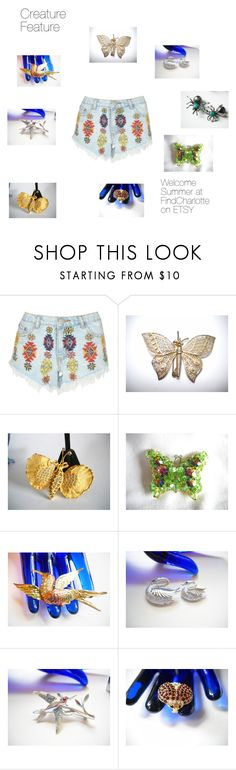 """Creature Feature"" by findcharlotte ❤ liked on Polyvore featuring Lipsy and vintage"