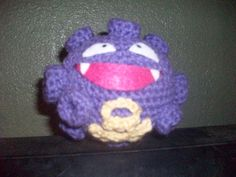 COMPLETED: 93 GOAL: 649?                    Materials:  purple and gold yarn, black, white and pink felt, polyfil, crochet hook 'F', craft ...