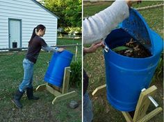 DIY Spinning Composter | 13 Best DIY Compost Tumblers | Drum Compost Ideas and Plans for your Garden by Pioneer Settler at pioneersettler.co...