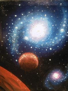 Galaxy painting by StellarDreamer, via Flickr