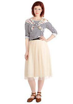 Dancing through Dallas Skirt in Cream, @ModCloth