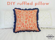 oh, sweet joy!: ((handmade monday)) DIY ruffled pillow @Bethany Jackson