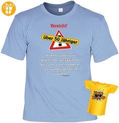 Lustiges T-Shirt zum 50. Geburtstag Vorsicht über 50 Jähriger mit Mini-Shirt 50 Geburtstag 50 Jahre Geschenk für das Geburtstagskind - Shirts zum 50 geburtstag (*Partner-Link)