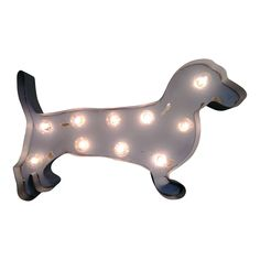 Dachshund Dog Symbol Marquee Light from The Rusty Marquee