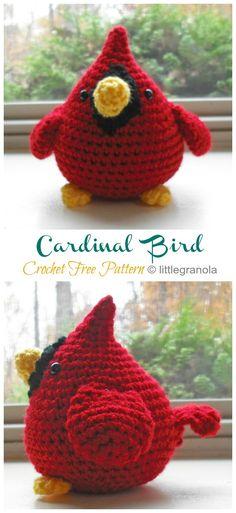 Crochet Bird Patterns, Crochet Birds, Cute Crochet, Crochet Crafts, Yarn Crafts, Crochet Flowers, Easy Crochet, Crochet Baby, Crochet Projects