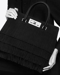 Saint Laurent Small Monogram Saint Laurent Flat Bucket Bag In ...