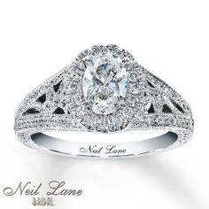 Dazzling Neil Lane Sapphire Engagement Ring