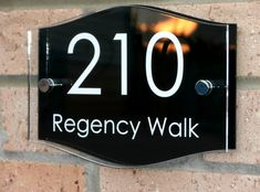 CHROME DOOR NUMBER PLAQUE MODERN CHROME HOUSE SIGN GLOSS BLACK 0-999