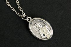 Saint Sebastian Necklace. Christian Necklace. St Sebastian Medal Necklace. Patron Saint Necklace. Catholic Jewelry. Religious Necklace. by GatheringCharms from Gathering Charms by Gilliauna. Find it now at http://ift.tt/1pYdNZf!
