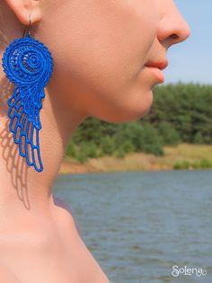 Textile Jewelry, Fabric Jewelry, Boho Jewelry, Jewelery, Unique Jewelry, Tatting Earrings, Lace Earrings, Crochet Earrings, Bridesmaid Earrings