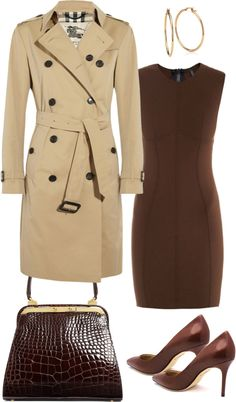 Looks com trench coat Trench Coat Outfit, Beige Trench Coat, Mode Outfits, Stylish Outfits, Fashion Outfits, Estilo Gamine, Trent Coat, Professional Dresses, Casual Fall Outfits