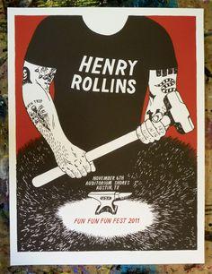 Henry Rollins FFF Fest Poster - Drug Factory Press