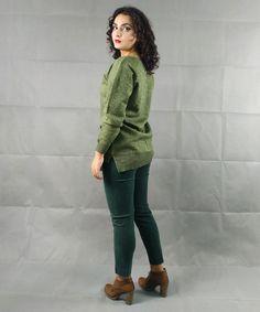Μπλούζα Πλεκτή Πράσινη Lurex | Vaya Fashion Boutique