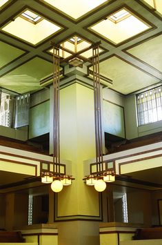Unity Temple (1908), in Oak Park, IL. Designed by Frank Lloyd  Wright