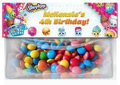 Shopkins Birthday Goodie Bag Toppers party by XochitlMontana Photo Birthday Invitations, Party Invitations, Party Favors, Custom Invitations, Personalized Invitations, Party Bags, Party Party, Party Time, Shopkins Invitations