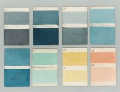Paint color cards from 1807