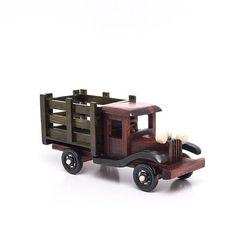 Miniatura Caminhão Antigo - Madeira