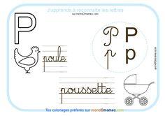Coloriage alphabet lettre P coloriage Exercice maternelle grande section Coloriage de lettres illustrées